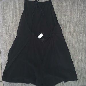 American apparel backless romper black